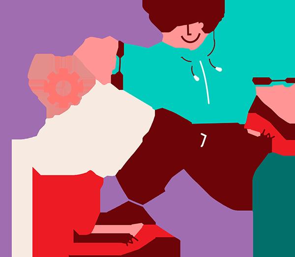 boy - making a plan graphic