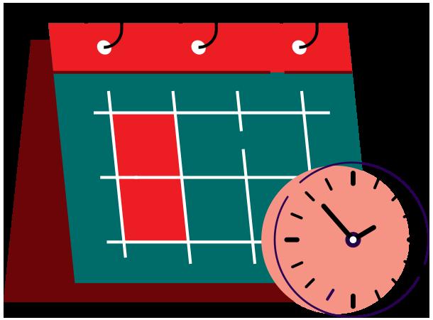 calendar, clock, schedule