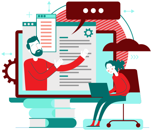 Client Project Management Software Training Graphic