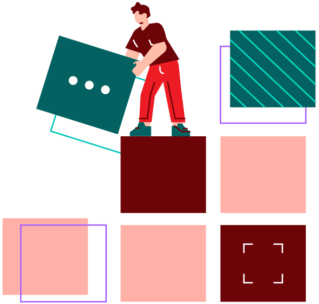 guy stacking blocks on top of each other